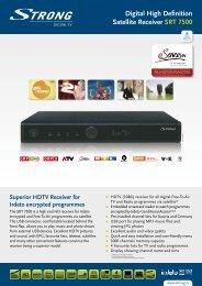 Digital High Definition Satellite Receiver SRT 7500 - STRONG ...