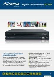 STEG Digitaler Satelliten Receiver SRT 6200 - STRONG Digital TV