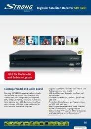 Digitaler Satelliten Receiver SRT 6201 - STRONG Digital TV