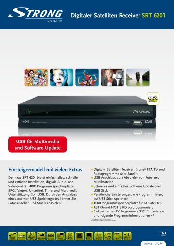 Digitaler Satelliten Receiver SRT 6201 - STRONG Digital TV