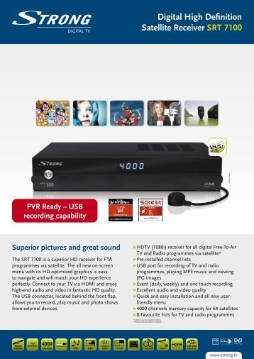 Digital High Definition Satellite Receiver SRT 7100 - STRONG ...
