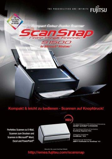 Kompakt & leicht zu bedienen - Scannen auf Knopfdruck - Sipgate