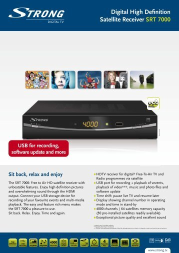 Digital High Definition Satellite Receiver SRT 7000 - STRONG ...