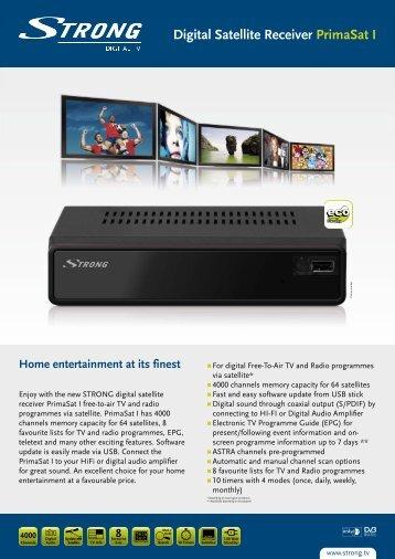 Digital Satellite Receiver PrimaSat I - STRONG Digital TV