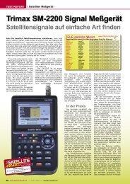 Trimax SM-2200 Signal Meßgerät