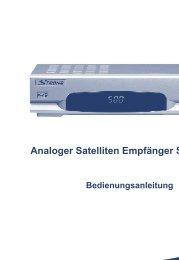 Analoger Satelliten Empfänger SRT 500 LT - STRONG Digital TV