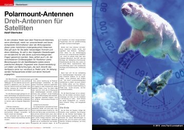 Polarmount-Antennen Dreh-Antennen für Satelliten - TELE-satellite ...