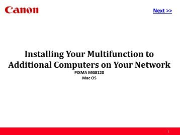 Installing Your Multifunction to Additional Computers on Your Network