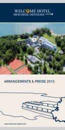 Arrangements & Preise - Welcome Hotels