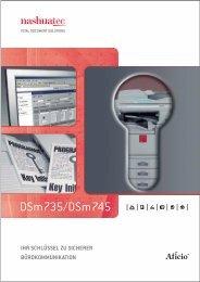 TECHNISCHE DATEN DSm735/DSm745 - Nashuatec