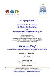 Musik im Kopf - Schweizerische Interpretengenossenschaft SIG