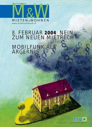 8. februar 2004 - Mieterverband