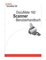 DocuMate 162 Scanner Benutzerhandbuch - Scanners