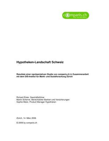 Hypotheken-Landschaft Schweiz - Comparis.ch