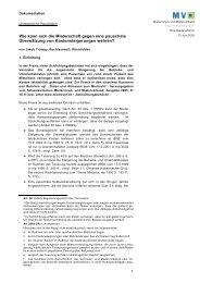 Ungesetzliche Pauschalen - Mieterverband
