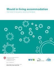 Mould in living accommodation - Mieterverband