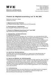 Protokoll der Mitgliederversammlung vom 19. Mai ... - Mieterverband