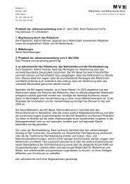 Protokoll der Jahresversammlung vom 27. April ... - Mieterverband