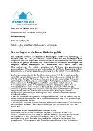 Einreichung der Wohninitiative - Mieterverband
