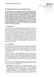 Die Mietrechtsrevision und ihre Auswirkungen  - Mieterverband