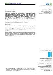 Auszug und Einzug - Mieterverband