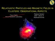 GRelativistic particles and magnetic fields in clusters: observational
