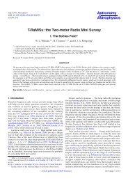 T-RaMiSu: the Two-meter Radio Mini Survey - Astronomy ...