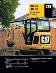 Specalog for 301.6C/301.8C Mini Hydraulic Excavators, AEHQ5673 ...