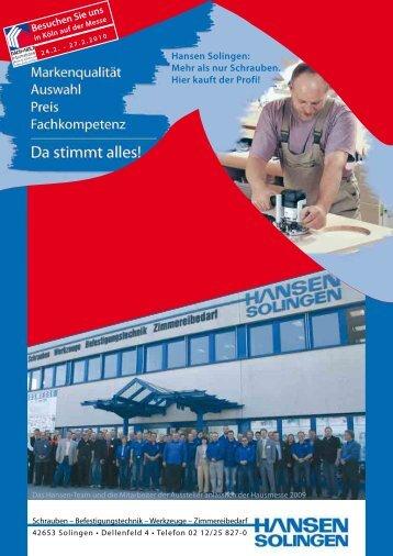 Besuchen Sie uns Hansen Solingen: Mehr als nur Schrauben. Hier ...