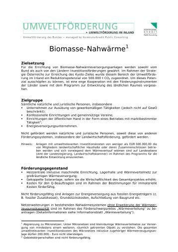 Biomasse-Nahwärme