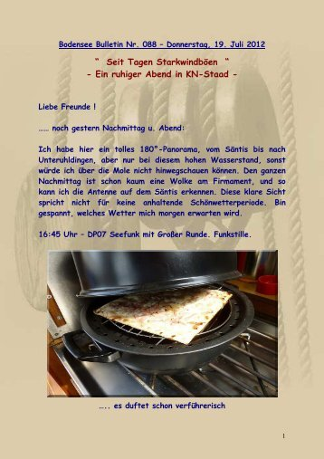 Bodensee Bulletin Nr. 088 - Donnerstag, 19. Juli 2012 - Big-Max