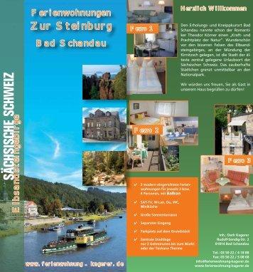 Flyer - Ferienwohnungen Kagerer in Bad Schandau