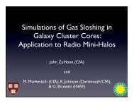 Simulations of Gas Sloshing in Galaxy Cluster Cores: Application to ...