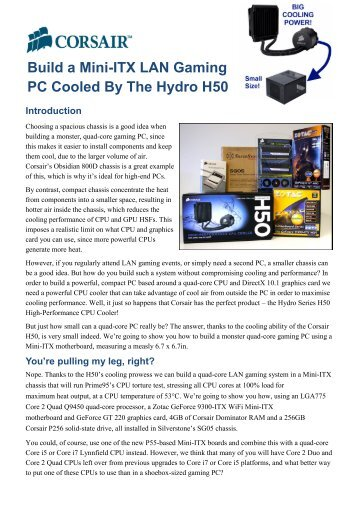 Build a Mini-ITX LAN Gaming PC Cooled By The Hydro H50 - The ...