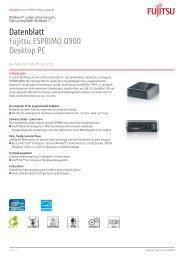 Fujitsu ESPRIMO Q900 - RRZE - Regionales RechenZentrum ...