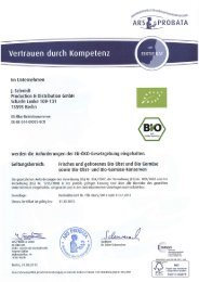 Unser BIO-Zertifikat - Mikado Foods