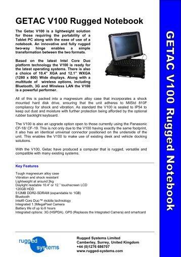 GETAC V100 Rugged Notebook - Steatite Rugged Systems