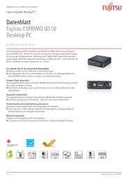 Fujitsu ESPRIMO Q510 - RRZE - Regionales RechenZentrum ...