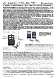 """Mini-Handsender 433 MHz. Serie """"RMF"""" - Rohrmotor24"""