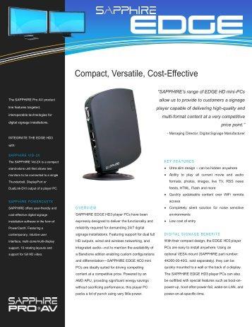 Pro AV Datasheet - Sapphire