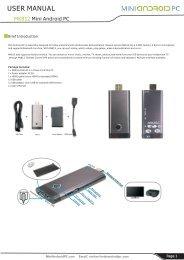 Users Manual MK812 Mini PC - Mini Android PC