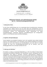 Allgemeine Verkaufs- und Lieferbedingungen (AVLB) - Mikado Foods