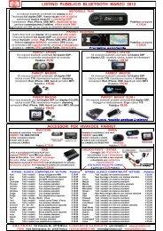 Listino GMA Bluetooth Pubblico Mar 2012 - GMA ITALIA srl