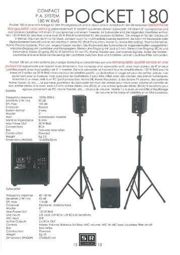 POCKET 180 - SR Technology