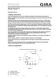 1 Safety instructions 2 Device components Radio ... - Download - Gira