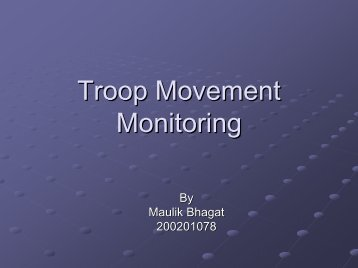 Troop Movement Monitoring - DAIICT Intranet
