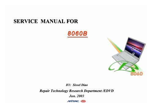 Mitac 8060B Service Manual - laptop schematics, notebook ... on