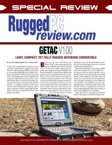 getac v100 - Rugged PC Review