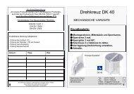 Montageanleitung Drehkreuz Typ 40 - Drehkreuze