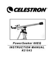 PowerSeeker 60 EQ Manual - Celestron